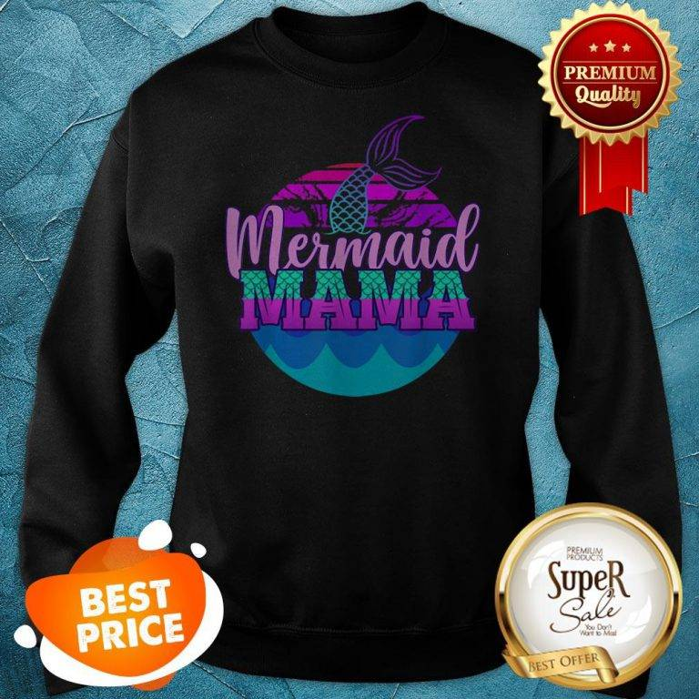Official Mom Birthday Party Outfit Mommy Girl Mermaid Mama Sweatshirt