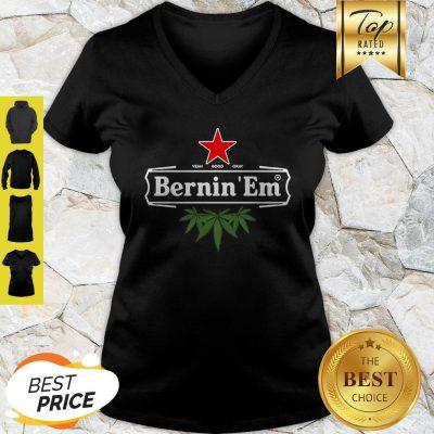 Official Bernin'Em Heineken Weed V-Neck