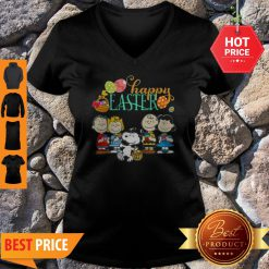 Official Peanuts Characters Happy Easter V-Neck