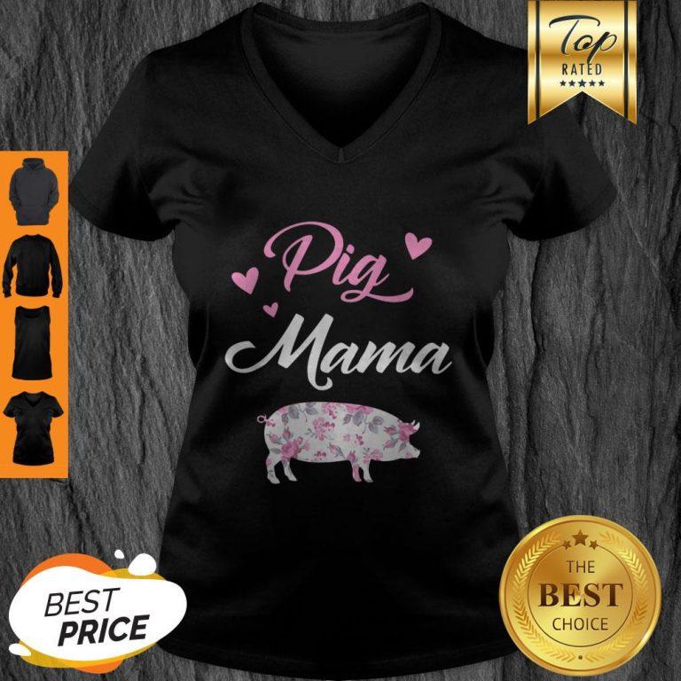 Awesome Pig Mama – Cute Pig Mom – Proud Pig Mama V-Neck