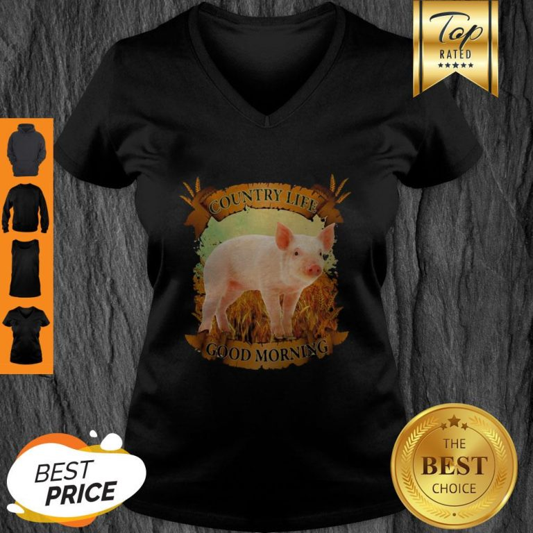 Official Country Life Good Morning Pig V-Neck