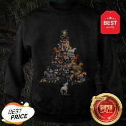 Official Horses Christmas Tree Horse Lover Xmas Gift Sweatshirt