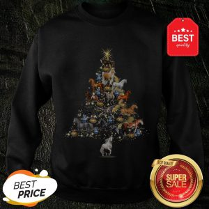 Official Horses Christmas Tree Horse Lover Xmas Gift Sweatshirt