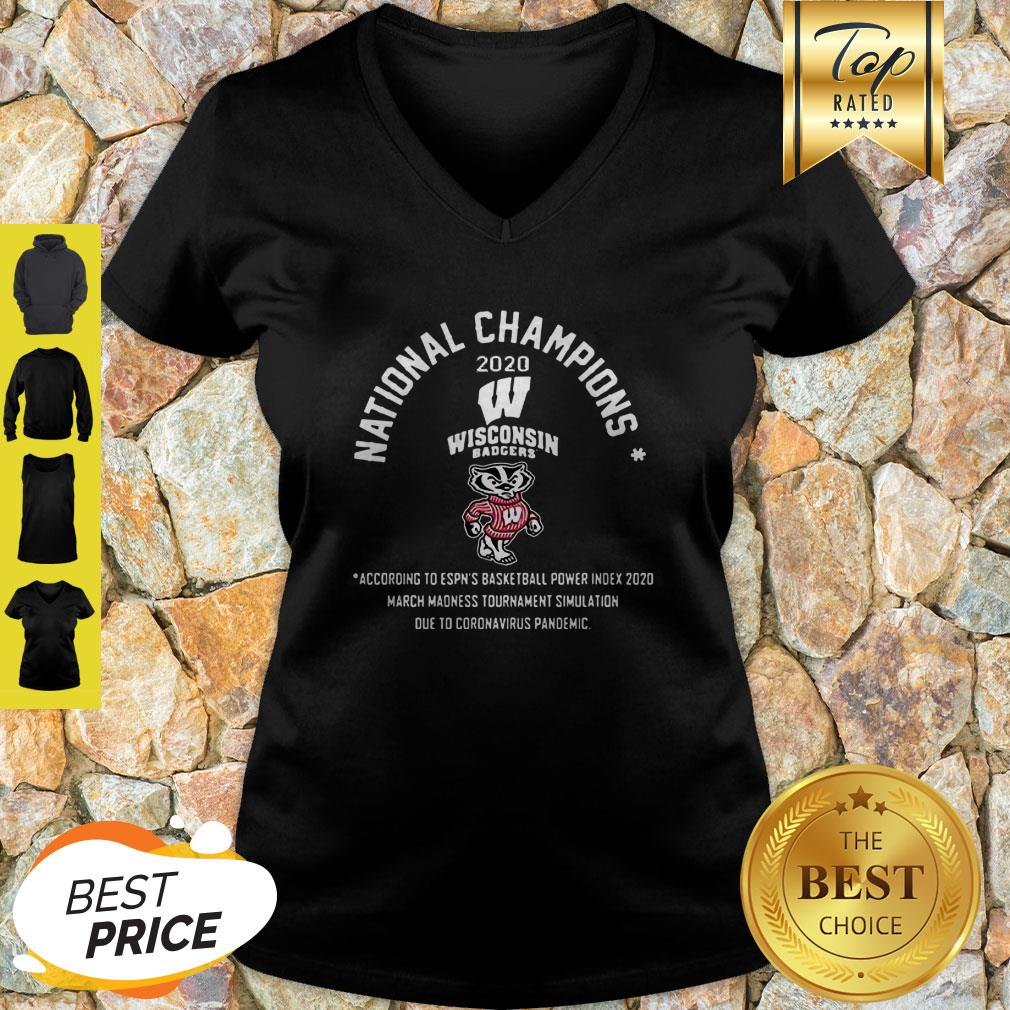 National Champions 2020 Wisconsin Badgers V-Neck