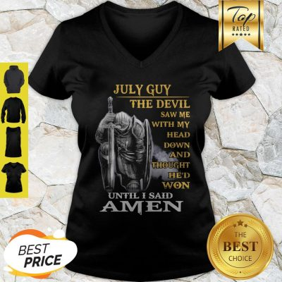 June Guy The Devil Saw Me With My Head Down And Thought He'd Won V-Neck