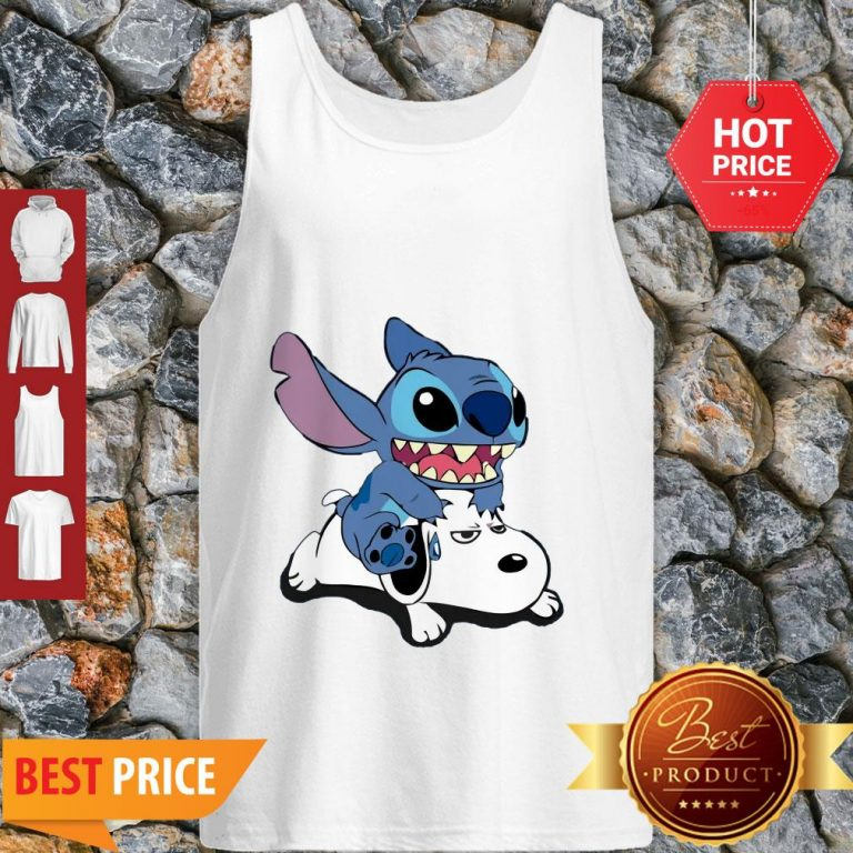 Official A Friend For Life Stitch And Snoopy Tank Top
