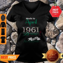 Made In April 1961 59 Years Of Being Awesome V-Neck