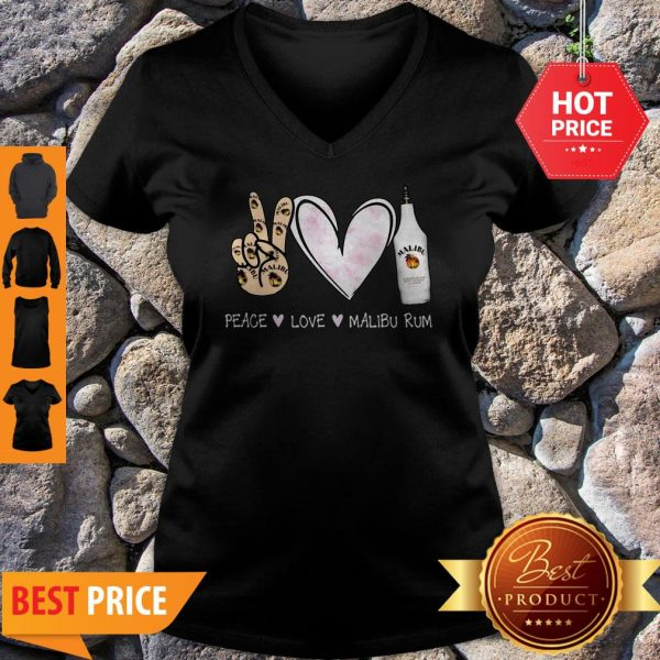 Official Peace Love Malibu Rum V-Neck
