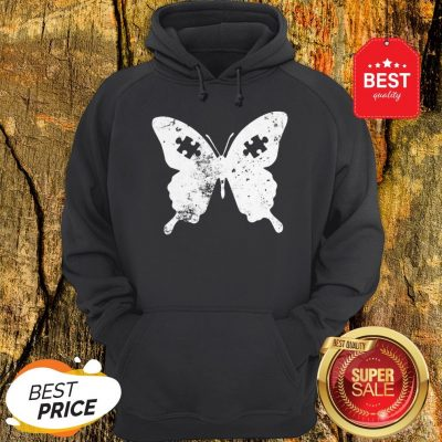 Butterflies Autism Awareness Puzzle Pieces Gift Ideas Mom Hoodie