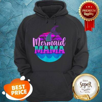 Official Mom Birthday Party Outfit Mommy Girl Mermaid Mama Hoodie