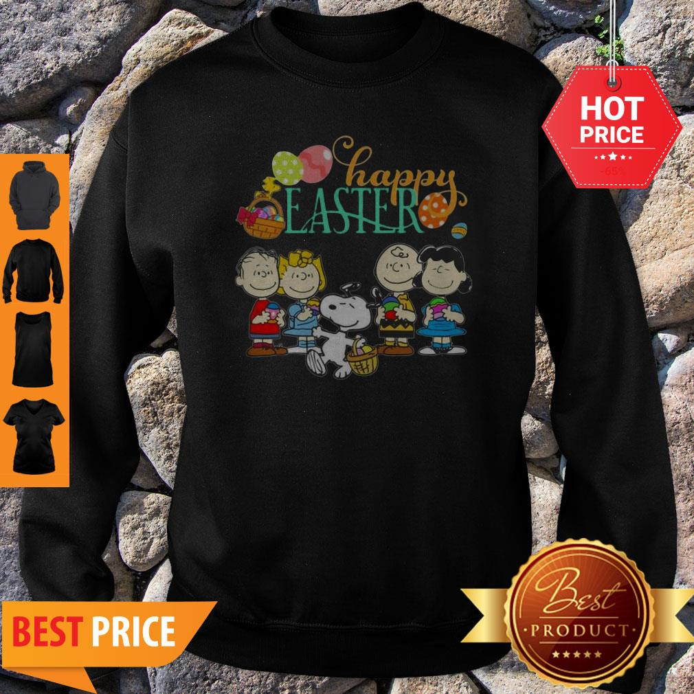 Official Peanuts Characters Happy Easter Sweatshirt