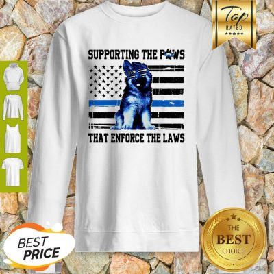 Alaska Thin Blue Line Supporting The Paws That Enforce The Laws Sweatshirt