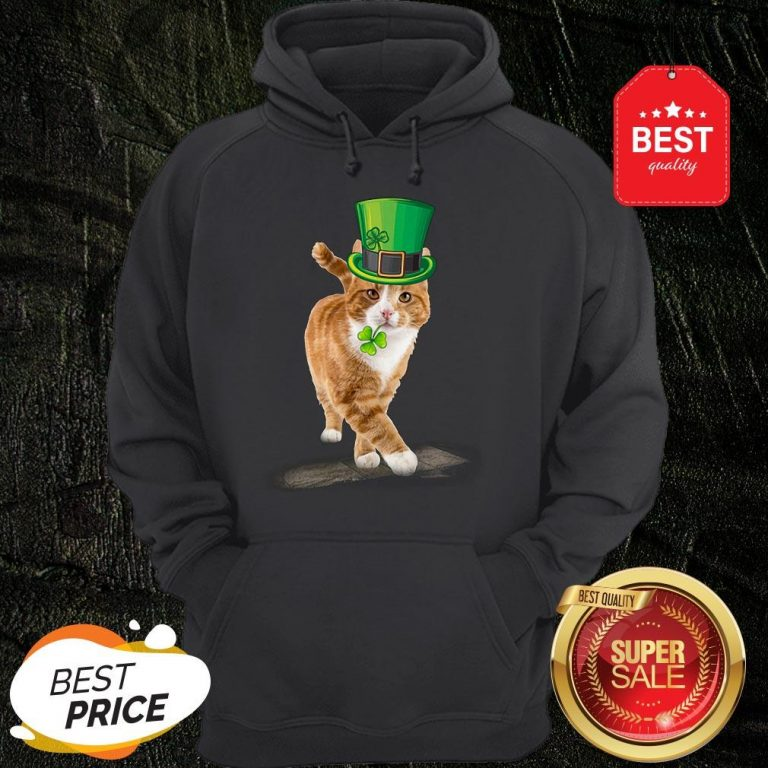 Official Friend Your Partner Your Cat St Patricks Day Hoodie