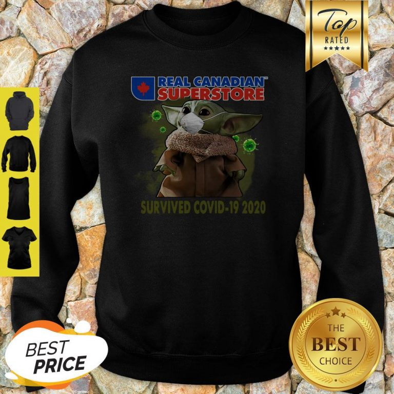 Baby Yoda Real Canadian Superstore Survived Covid-19 2020 Sweatshirt