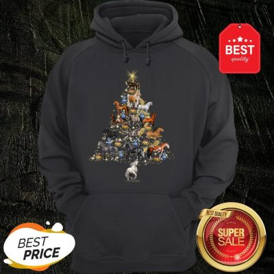 Official Horses Christmas Tree Horse Lover Xmas Gift Hoodie