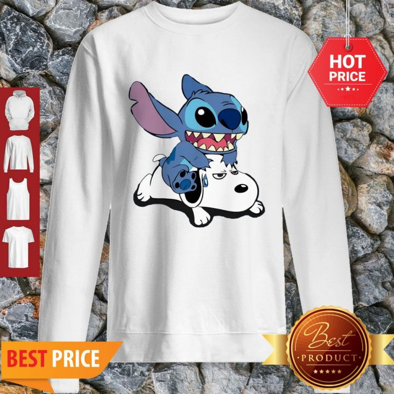 Official A Friend For Life Stitch And Snoopy Sweatshirt