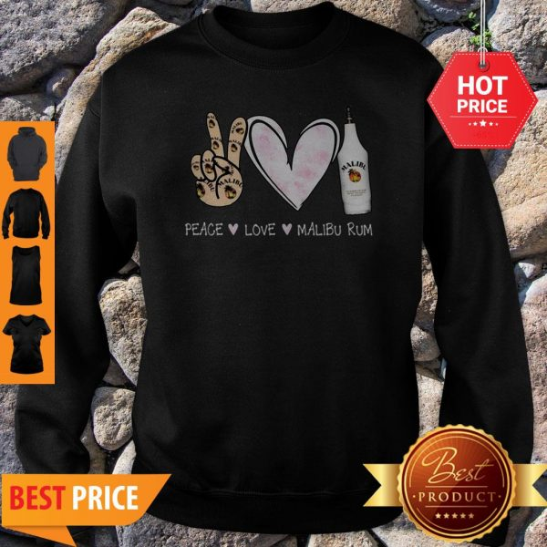 Official Peace Love Malibu Rum Sweatshirt