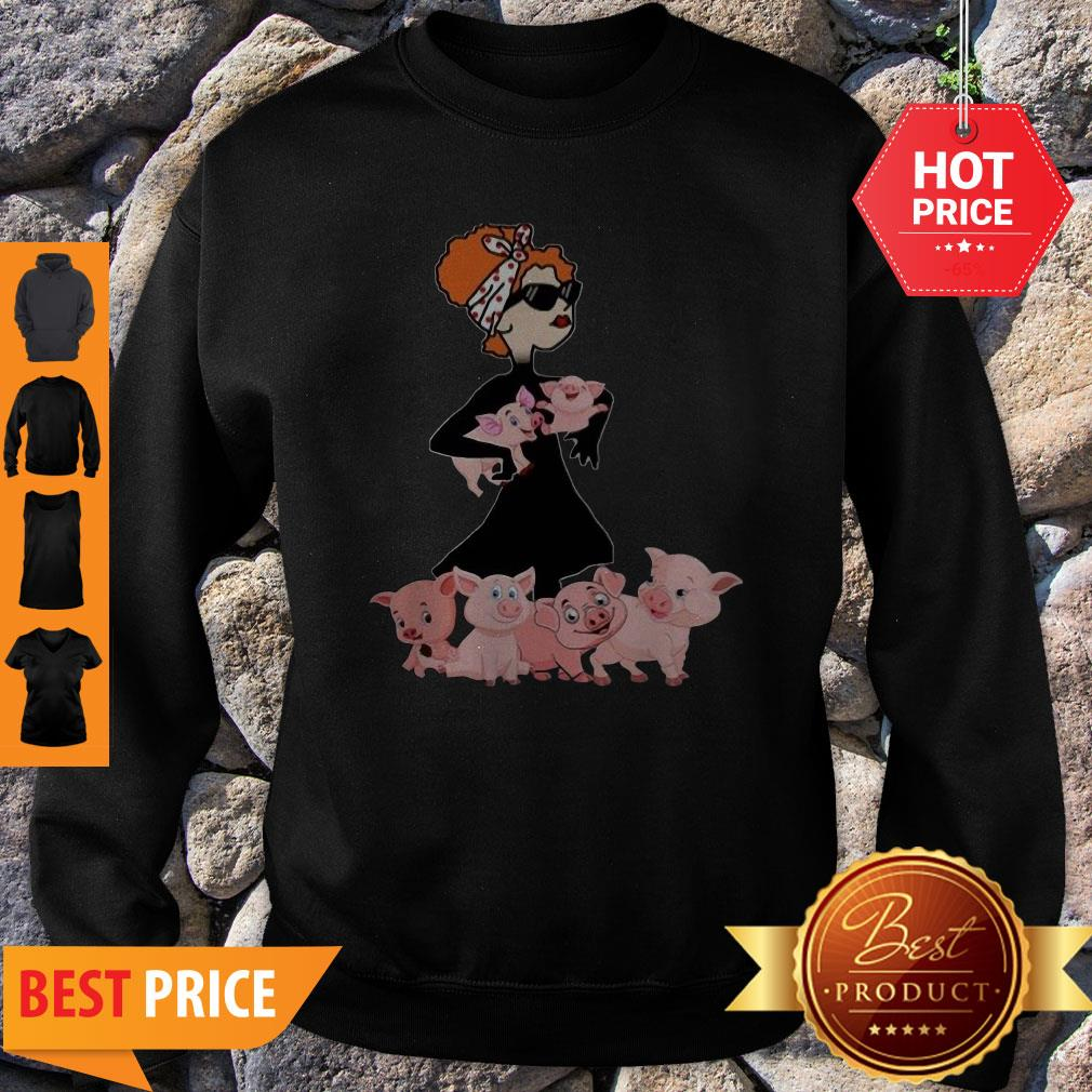 Pig A Cool Lady Crewneck Sorry My Nice Button Is Out Of Order But My Bite Me Button Works Just Fine Sweatshirt