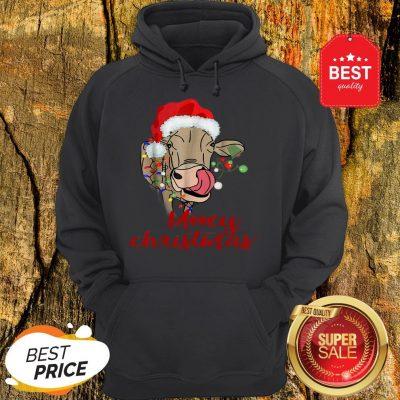 Nice Mooey Christmas Cow Heifer Farmer Xmas Gift Tee Hoodie