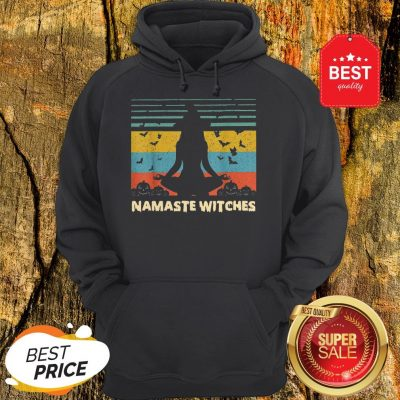 Official Hot Yoga Namaste Witches Halloween Hoodie