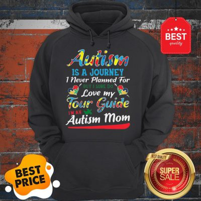 Autism Is A Journey I Never Planned For Tour Guide Autism Mom Hoodie