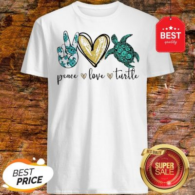 Official Peace Love Turtle Shirt