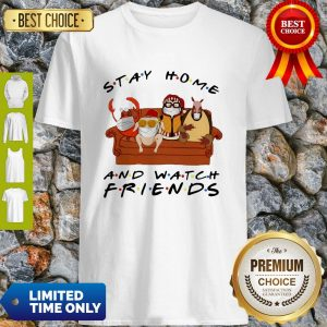 Official Stay Home Watch Friends Hugsy Shirt