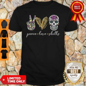Official Peace Love And Skulls Diamond Shirt