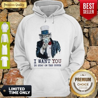 Uncle Sam Mask I Want You To Stay On The Couch Hoodie