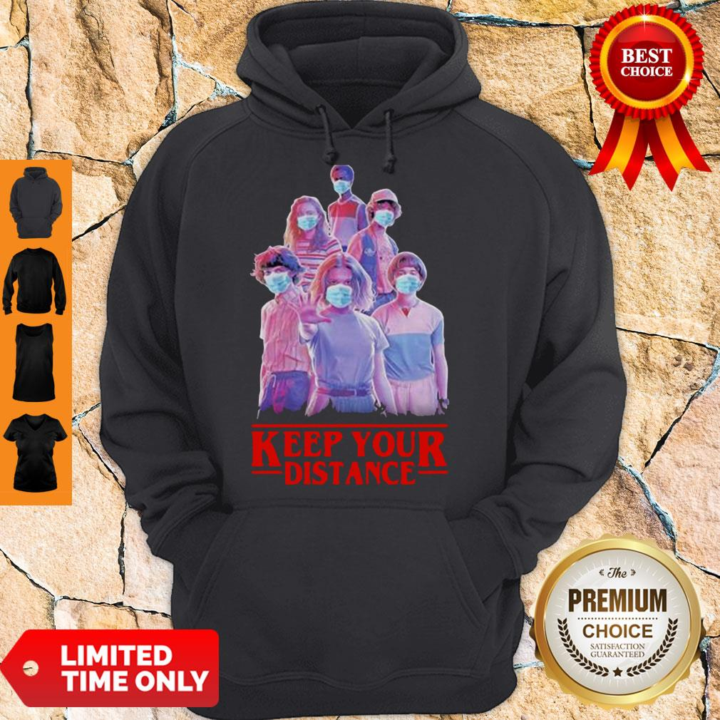 Strangerthings Eleven Mike Will Max Dustin Lucas Season Keep Your Distance COVID-19 Hoodie