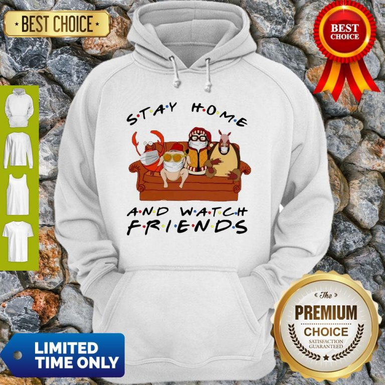 Official Stay Home Watch Friends Hugsy Hoodie