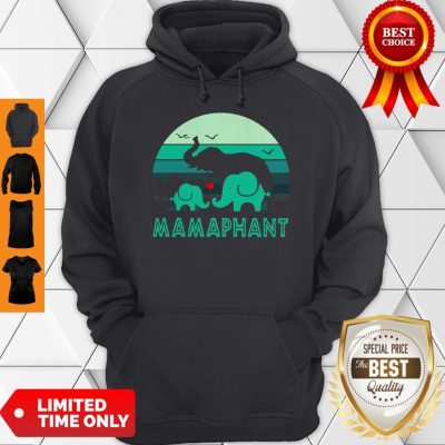 Vintage Elephant Mamaphant Mother's Day Hoodie