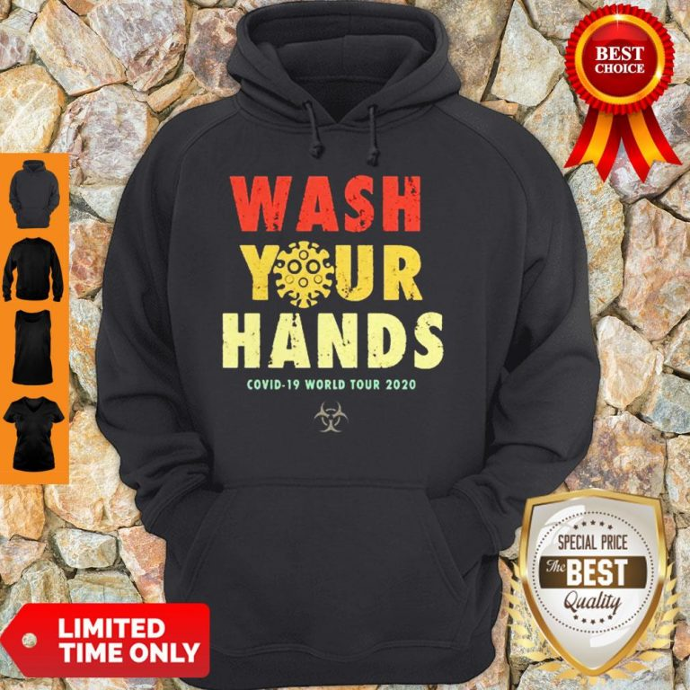 Official Wash Your Hands Covid-19 World Tour 2020 Hoodie