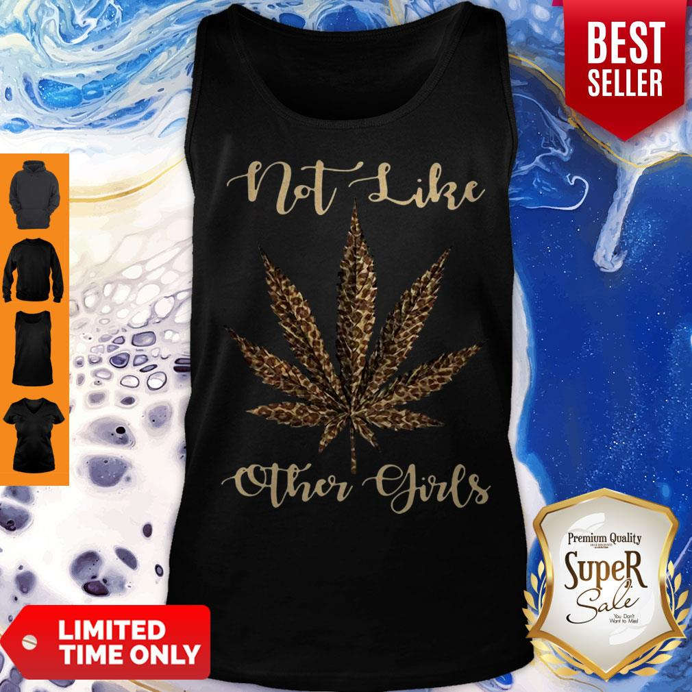 Leopard Cannabis Weed Not Like Other Girl Tank Top