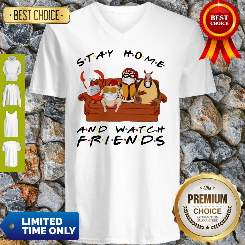 Official Stay Home Watch Friends Hugsy V-Neck