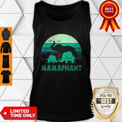 Vintage Elephant Mamaphant Mother's Day Tank Top