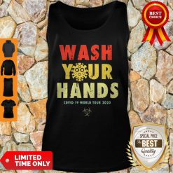 Official Wash Your Hands Covid-19 World Tour 2020 Tank Top