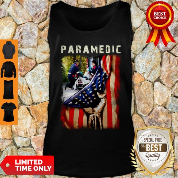 Paramedic American Flag Independence Day Tank Top