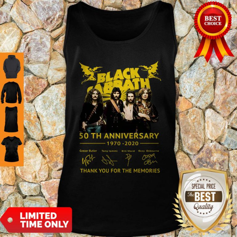 Thank You For The Memories Black Sabbath 50th Anniversary 1970-2020 Signatures Tank Top