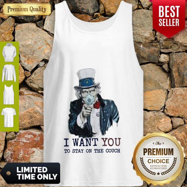 Uncle Sam Mask I Want You To Stay On The Couch Tank Top