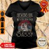 Vintage Brewers Girl Always Classy Never Trashy And A Little Bit Sassy V-Neck