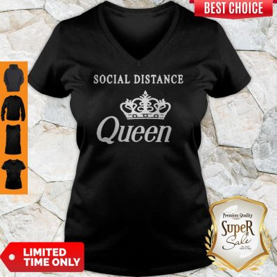 Nice Social Distance Queen Bella Social Distancing Work From Home V-Neck