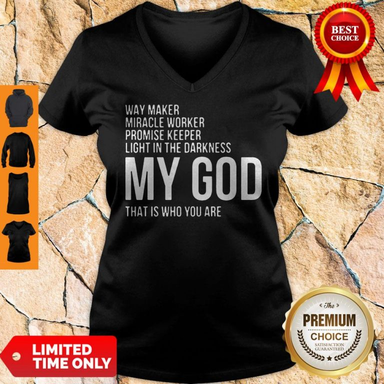 Official Way Maker Miracle Worker My God V-Neck
