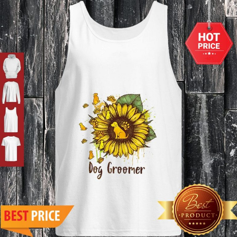 Official Sunflower Dogs Groomer Tank Top