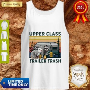 Vintage Raccoons And Opossums Upper Class Trailer Trash Tank Top