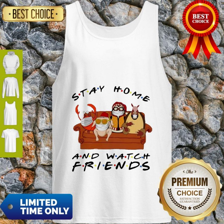 Official Stay Home Watch Friends Hugsy Tank Top