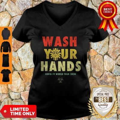 Official Wash Your Hands Covid-19 World Tour 2020 V-Neck