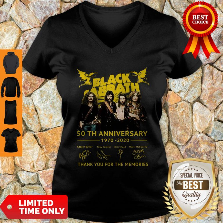 Thank You For The Memories Black Sabbath 50th Anniversary 1970-2020 Signatures V-Neck