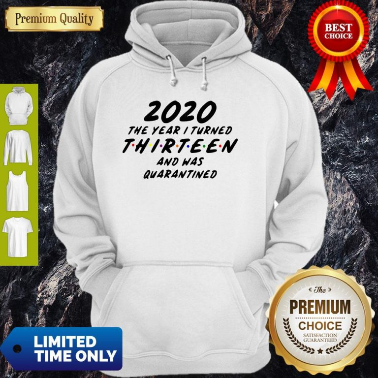 2020 The Year I Turned Thirteen And Was Quarantined Hoodie