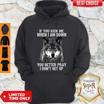 If You Kick Me When I Am Down You Better Pray I Don't Get Up Dog Hoodie